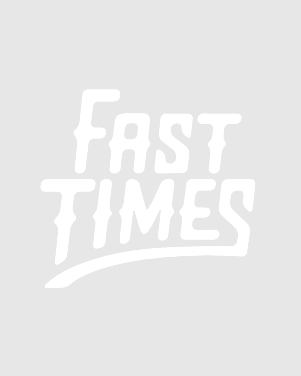 Butter Goods Flower Zip SS Polo Navy/Pale Blue